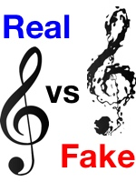 real vs fake music theory