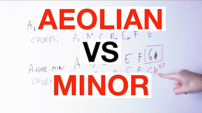 aeolian vs minor
