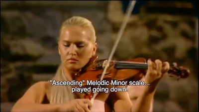 ascending melodic minor scale