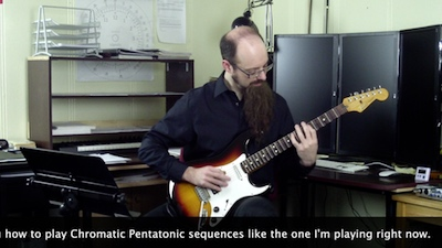 chromatic guitar sequences