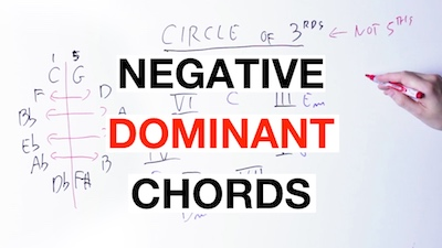 negative dominant chords
